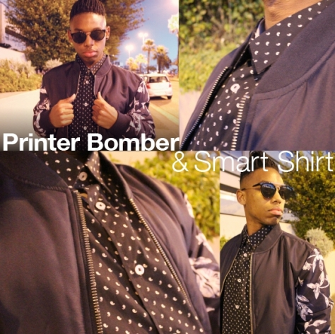 Markham Printed Bomber Jacket and Printed Shirt