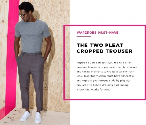 Markham - The Two Pleat Cropped Trouser
